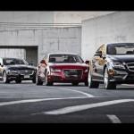 2012 Audi A7 vs. 2011 Jaguar XJ vs. 2012 Mercedes-Benz CLS550