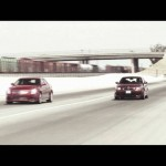 Cadillac CTS-V vs BMW M5  Drag Race