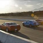 Drag Race! Hennessey HPE550 Camaro vs GT500 vs SRT8