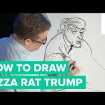 How to Draw a Pizza Rat and Donald Trump Hybrid | Bob Draws