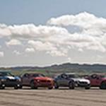 V-6 Coupe Drag Race! – Mustang vs Genesis Coupe 3.8 vs Camaro RS vs Challenger SE