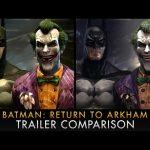 Batman: Return to Arkham Graphics Comparison