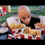 تحدي اكل 4 وجبات دجاج كنتاكي كاملة مشبعة مع الشطة الحارة السلطة والبطاطس 5000 سعرة حرارية |التحدي ال