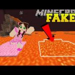 Minecraft: THIS LAVA IS FAKE!!! – Find The Button – Custom Map